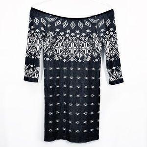 FREE PEOPLE | printed SEXY off the shoulder dress